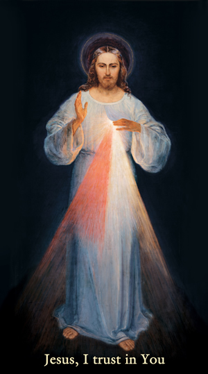 Picture of Jesus as the Divine Mercy
