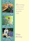 Gardening in Spring Birthday Enrollment Card | ShopMercy