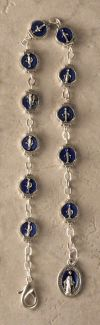 MARY - BLUE ENAMEL MIRACULOUS MEDAL BRACELET | ShopMercy