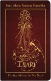 INSPIRATIONAL - DIARY OF SAINT MARIA FAUSTINA KOWALSKA, DELUXE BURGUNDY LEATHER | ShopMercy