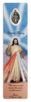DEVOTIONAL - DIVINE MERCY BOOKMARK WITH MEDAL | ShopMercy