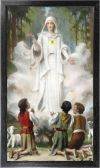 OTHER FATIMA ITEMS - OUR LADY OF FATIMA 10 X 18 CANVAS, BLACK FRAMED | ShopMercy
