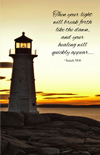Lighthouse at Sunrise Get Well Enrollment Card | ShopMercy