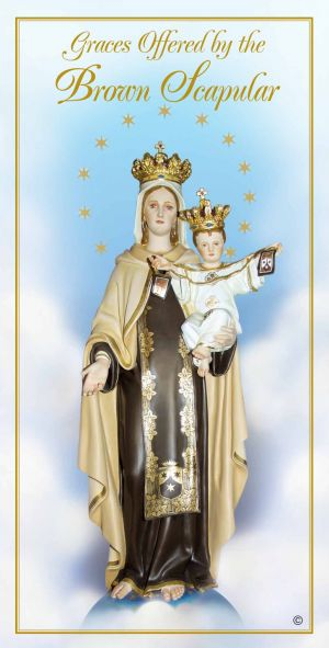 PAMPHLETS/PRAYERCARDS - GRACES OFFERED BY THE BROWN SCAPULAR | ShopMercy