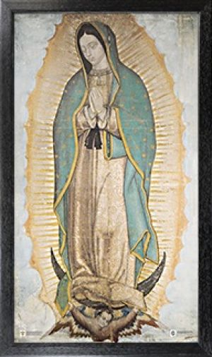 RELATED PRODUCTS -OFFICIAL IMAGE OF OUR LADY OF GUADALUPE 10 X 18 CANVAS PRINT, BLACK FRAMED | ShopMercy
