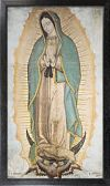 ALL - OFFICIAL IMAGE OF OUR LADY OF GUADALUPE 10 X 18 CANVAS PRINT, BLACK FRAMED | ShopMercy