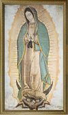 SUMMER SALE - OFFICIAL IMAGE OF OUR LADY OF GUADALUPE 10 X 18 CANVAS, GOLD FRAMED | ShopMercy
