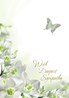 - BUTTERFLY AND FLOWER SYMPATHY ENROLLMENT CARD | ShopMercy