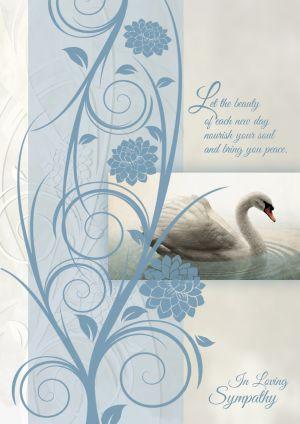 Swan Sympathy Card | ShopMercy