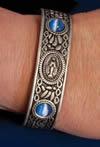 Blue Miraculous Medal Cuff Bracelet | ShopMercy
