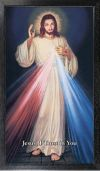 DIVINE MERCY - HYLA 10 X 18 CANVAS, BLACK FRAMED | ShopMercy