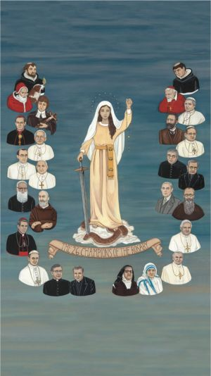 RELATED PRODUCTS -THE 26 CHAMPIONS OF THE ROSARY 10 X 18 CANVAS, GALLERY WRAP | ShopMercy