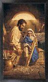 St. Joseph 10 x 18 Canvas, Black Framed | ShopMercy