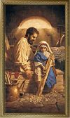 CANVAS - ST. JOSEPH 10 X 18 CANVAS, GOLD FRAMED | ShopMercy