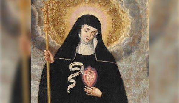 Santa Gertrudis y las Almas del Purgatorio